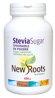 New Roots Stevia Sugar Spoonable, 454 g | NutriFarm.ca
