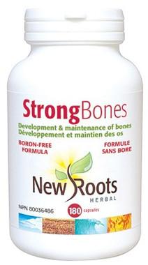 New Roots Strong Bones Boron-Free, 180 Capsules | NutriFarm.ca