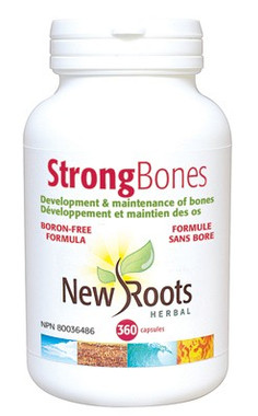 New Roots Strong Bones Boron-Free, 360 Capsules | NutriFarm.ca