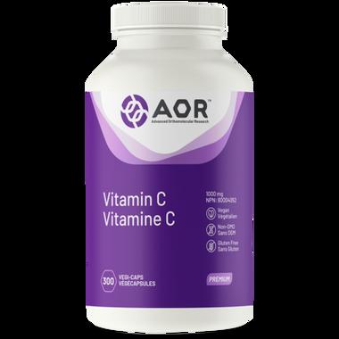 AOR Vitamin C, 300 Vegetable Capsules | NutriFarm.ca