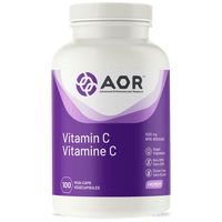 AOR Vitamin C, 100 Vegetable Capsules | NutriFarm.ca