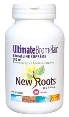 New Roots Ultimate Bromelain 500 mg, 90 Capsules | NutriFarm.ca