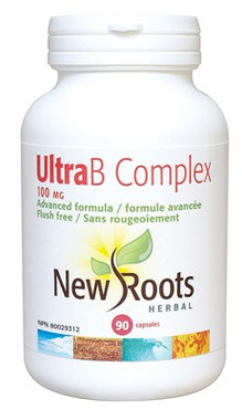 New Roots Ultra B Complex 100 mg, 90 Capsules | NutriFarm.ca