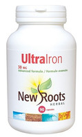 New Roots Ultra Iron 30 mg, 90 Capsules | NutriFarm.ca