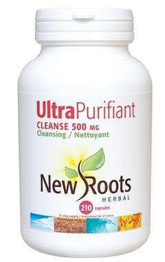 New Roots Ultra Purifiant Cleanse 500 mg, 210 Capsules | NutriFarm.ca