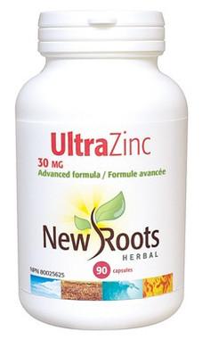 New Roots Ultra Zinc 30 mg, 90 Capsules | NutriFarm.ca