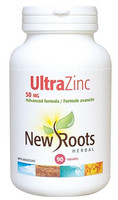 New Roots Ultra Zinc 50 mg, 90 Capsules | NutriFarm.ca