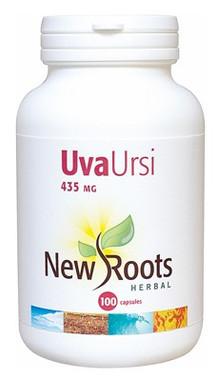 New Roots Uva Ursi 435 mg, 100 Capsules | NutriFarm.ca