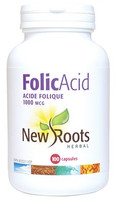 New Roots Folic Acid 1000 mcg, 100 Capsules | NutriFarm.ca