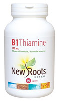 New Roots Vitamin B1 Thiamine 100 mg, 90 Capsules | NutriFarm.ca