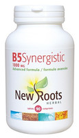 New Roots Vitamin B5 Synergistic 1000 mg, 90 Tablets | NutriFarm.ca