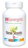 New Roots Vitamin B6 Synergistic 100 mg, 90 Capsules | NutriFarm.ca