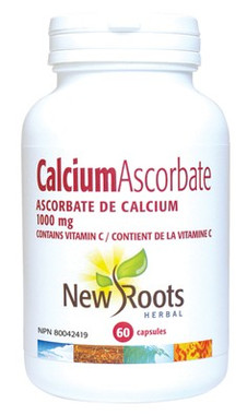 New Roots Calcium Ascorbate 1000 mg, 60 Capsules | NutriFarm.ca