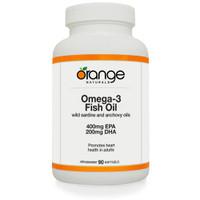 Orange Naturals Omega-3 Fish Oil, 90 Softgels | NutriFarm.ca
