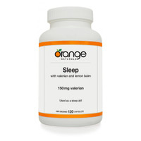 Orange Naturals Sleep with Valerian, 120 Capsules | NutriFarm.ca