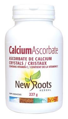 New Roots Calcium Ascorbate Crystals, 227 g | NutriFarm.ca