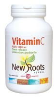 New Roots Vitamin C Plus 1000 mg, 120 Tablets | NutriFarm.ca
