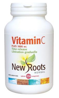 New Roots Vitamin C Plus 1000 mg, 250 Tablets | NutriFarm.ca