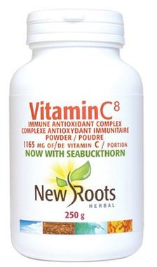 New Roots Vitamin C8, 250 g | NutriFarm.ca