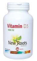 New Roots Vitamin D3, 180 Capsules | NutriFarm.ca