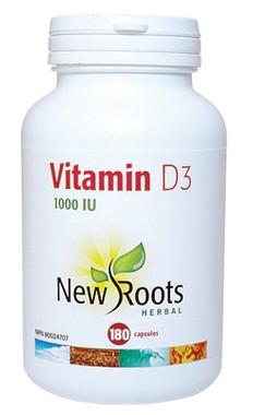 New Roots Vitamin D3, 180 Capsules | NutriFarm.ca