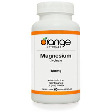Orange Naturals Magnesium Glycinate, 60 Vegetable Capsules | NutriFarm.ca