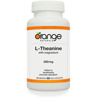 Orange Naturals L-Theanine, 60 Vegetable Capsules | NutriFarm.ca