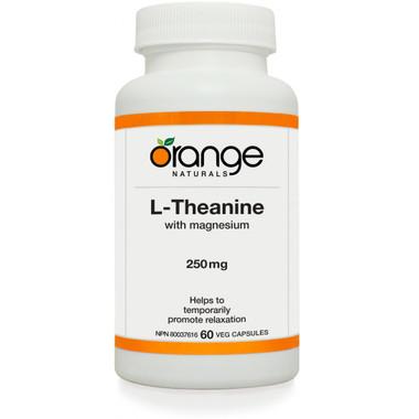 Orange Naturals L-Theanine, 60 Vegetable Capsules   NutriFarm.ca