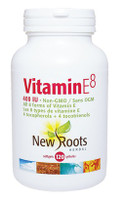 New Roots Vitamin E8 400 IU, 120 Softgels | NutriFarm.ca