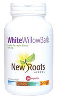New Roots White Willow Bark 400 mg, 50 Capsules | NutriFarm.ca