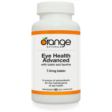 Orange Naturals Eye Health Advanced, 60 Vegetable Capsules | NutriFarm.ca