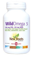 New Roots Wild Omega 3 (180 mg EPA 120 mg DHA), 120 Softgels | NutriFarm.ca