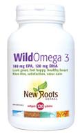 New Roots Wild Omega 3 (180 mg EPA 120 mg DHA), 120 Softgels | NutriFarm.ca