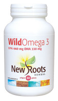 New Roots Wild Omega 3 (EPA 660 mg DHA 330 mg), 60 Softgels | NutriFarm.ca