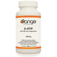 Orange Naturals 5-Hydroxytryptophan (5-HTP), 60 Vegetable Capsules | NutriFarm.ca