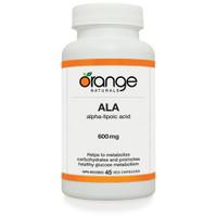 Orange Naturals Alpha Lipoic Acid (ALA), 60 Tablets | NutriFarm.ca