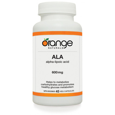 Orange Naturals Alpha Lipoic Acid (ALA), 60 Tablets   NutriFarm.ca
