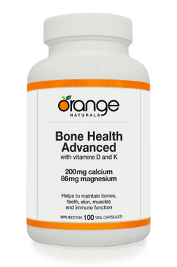 Orange Naturals Bone Health Advanced, 100 Vegetable Capsules | NutriFarm.ca