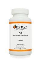 Orange Naturals D3, 90 Softgels | NutriFarm.ca