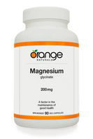 Orange Naturals Magnesium Glycinate, 90 Vegetable Capsule | NutriFarm.ca
