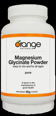 Orange Naturals Magnesium Glycinate Powder, 90 g   NutriFarm.ca