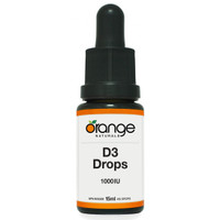 Orange Naturals D3 Drops 1000IU Orange MCT, 15 ml | NutriFarm.ca