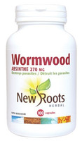 New Roots Wormwood 270 mg, 100 Capsules | NutriFarm.ca