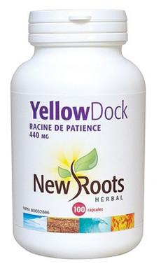 New Roots Yellow Dock 440 mg, 100 Capsules   NutriFarm.ca