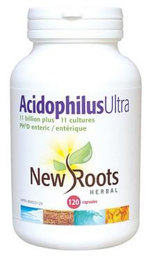 New Roots Acidophilus Ultra, 120 Capsules | NutriFarm.ca