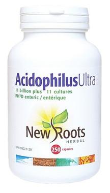 New Roots Acidophilus Ultra, 250 Capsules | NutriFarm.ca