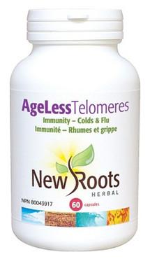 New Roots Ageless Telomeres, 60 Capsules | NutriFarm.ca
