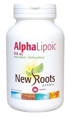 New Roots Alpha Lipoic 250 mg, 90 Capsules | NutriFarm.ca