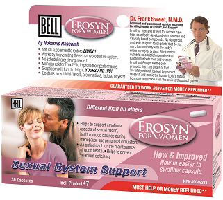 Bell Erosyn For Women 407 mg, 30 Capsules | NutriFarm.ca