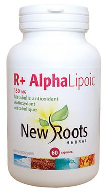 New Roots R+ Alpha Lipoic 150 mg, 60 Capsules | NutriFarm.ca